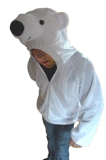Chaqueta como traje de oso polar, F115 Gr. XL, disfraz de carnaval,