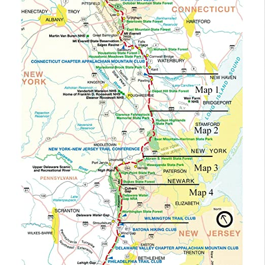 Amazon.com : Official New York and New Jersey Appalachian Trail Maps ...