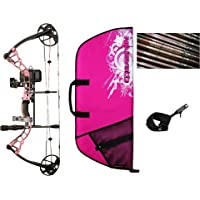 Diamond Infinite Edge Pro Compound Bow, Pink, Left Hand, Ready To Hunt Package