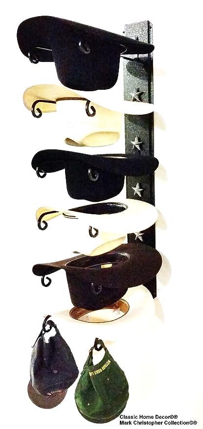 26e2264ab279b American Made Cowboy Sombrero Holder Star 886 B S 6 Tier perchero para  sombreros  Amazon.es  Hogar
