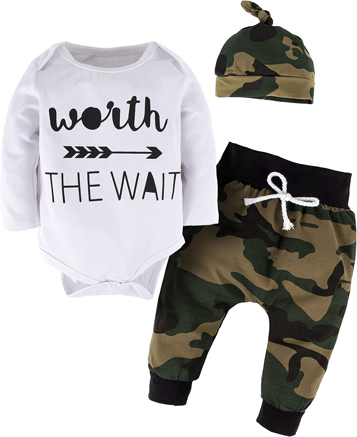 Vintage Army Dad Military Baby Long Sleeve Bodysuit Cotton Romper