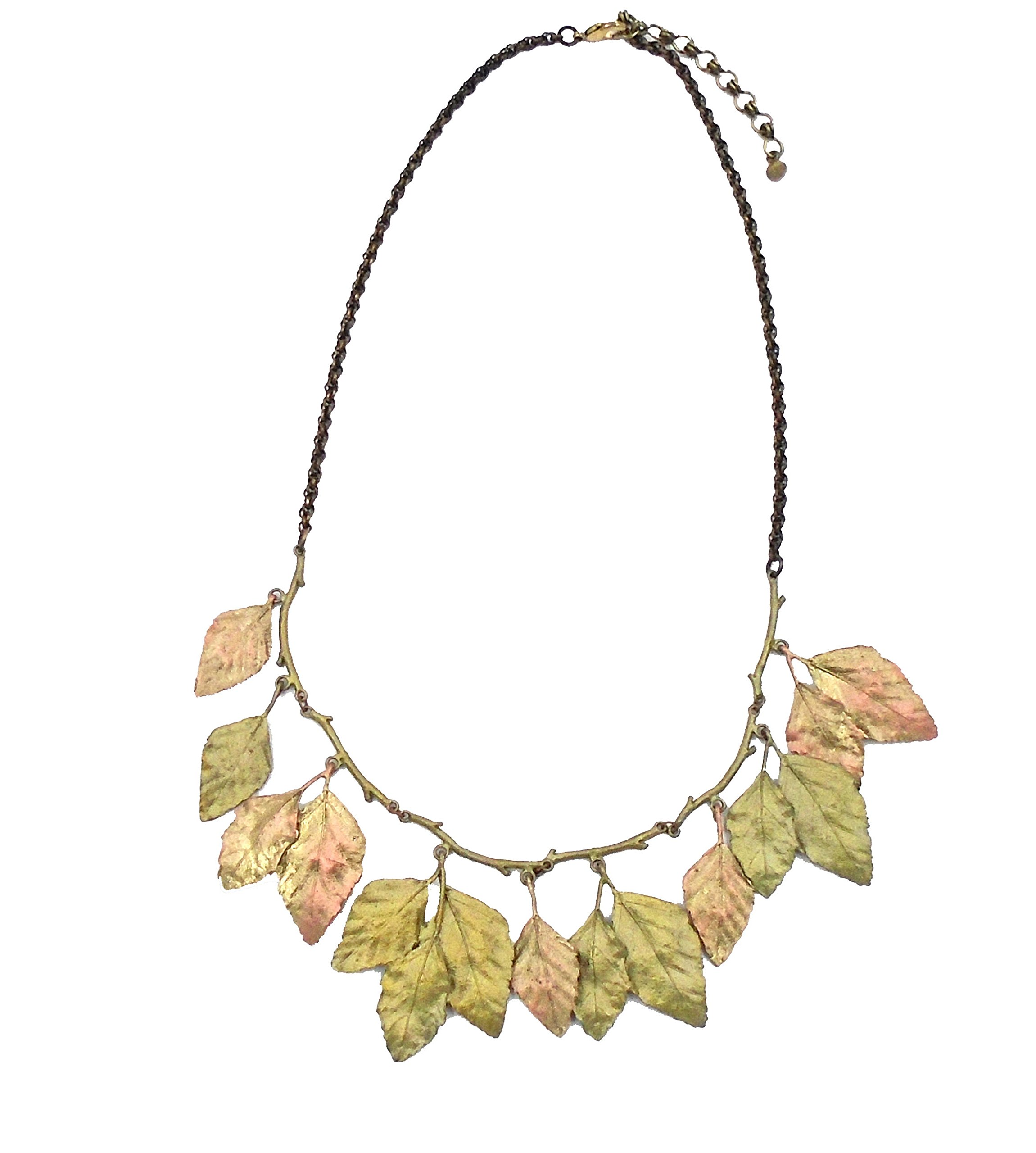 ''Autumn Birch'' Leaf Statement Necklace By Michael Michaud for Silver Seasons