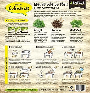 Huerto Urbano - Seed Box Culinarias - Batlle: Amazon.es: Jardín
