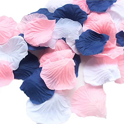 Amazon allheartdesires 900 pack mixed navy blue pink white allheartdesires 900 pack mixed navy blue pink white artificial silk rose petal flower centerpieces table scatters mightylinksfo