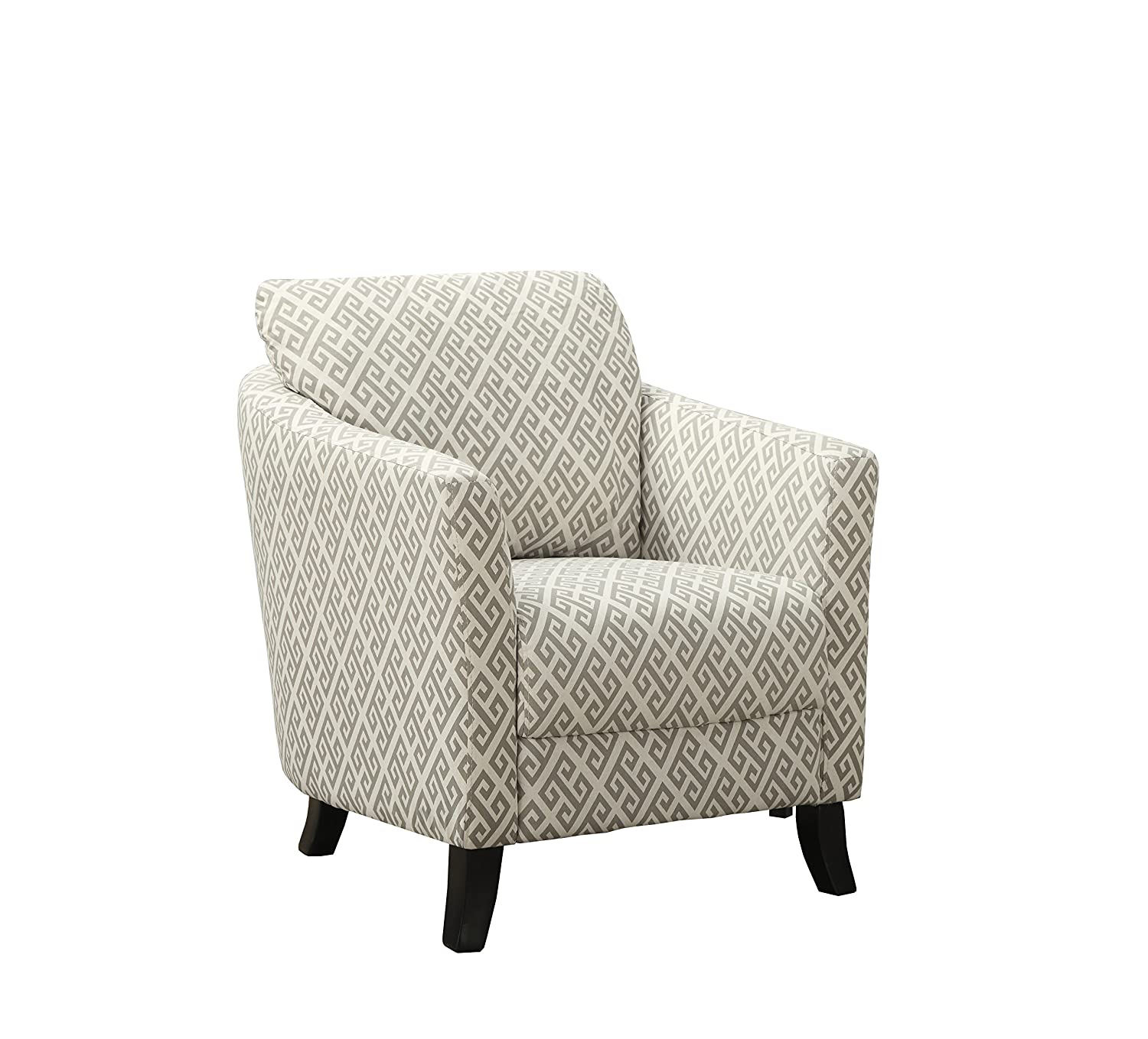 Monarch Specialties I 8009 Sandstone Grey Maze Fabric Accent Chair, 35