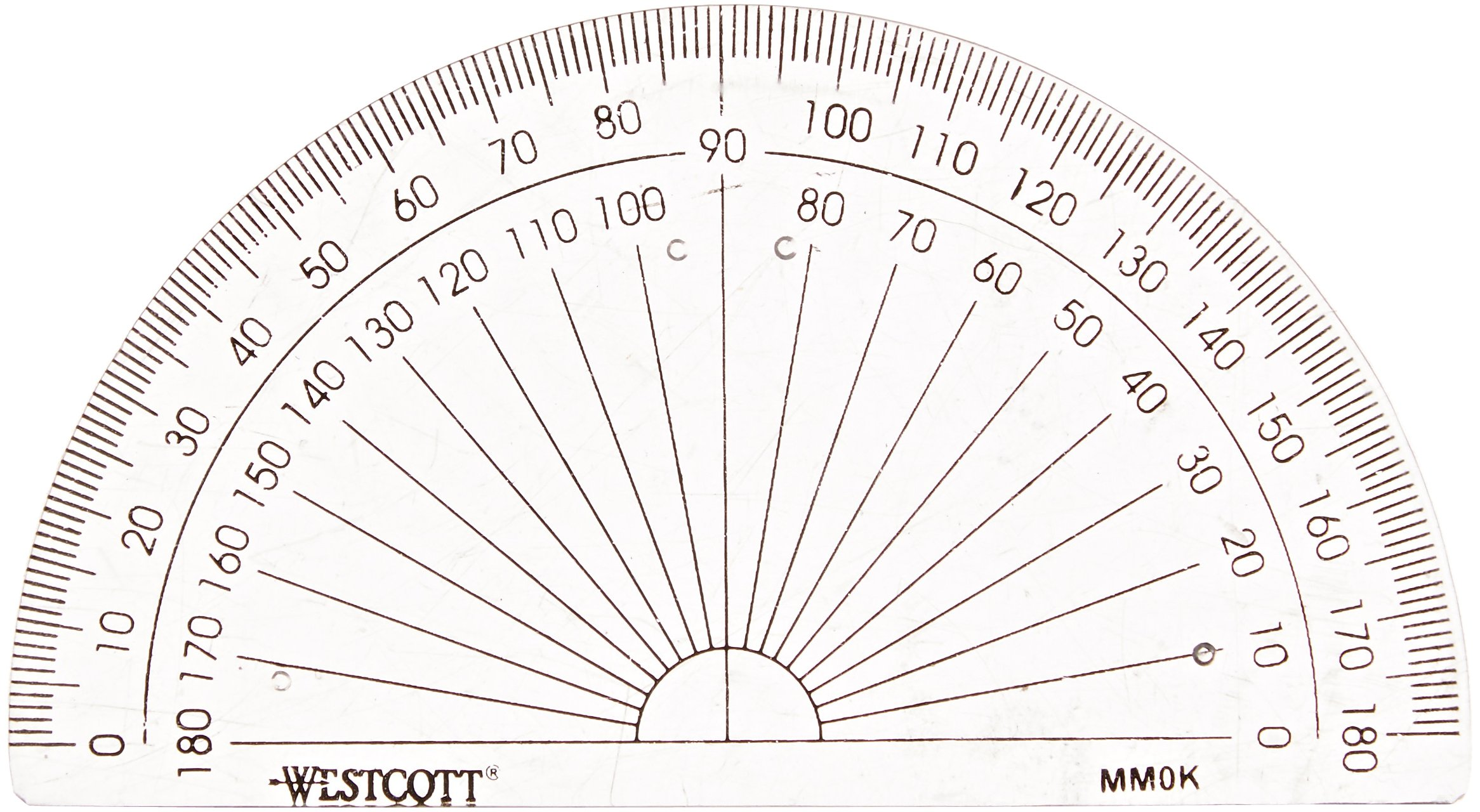 Westcott 180° Protractor, 4-Inch