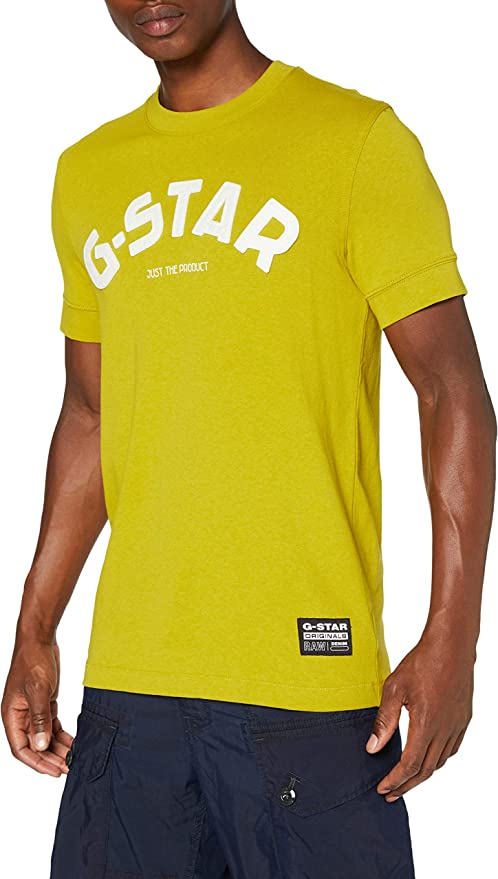 TALLA XXL. G-STAR RAW Felt Applique Logo Slim Camiseta para Hombre