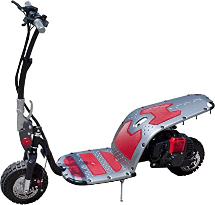 Amazon.com: Motovox Stand-Up Gas Powered Scooter (Red/Gray ...