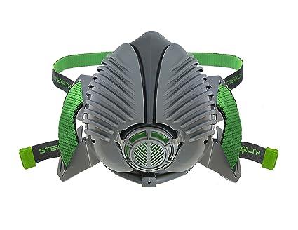 Stealth - Respirador de seguridad P3 reutilizable para polvo, soldadura y líquidos – con 2