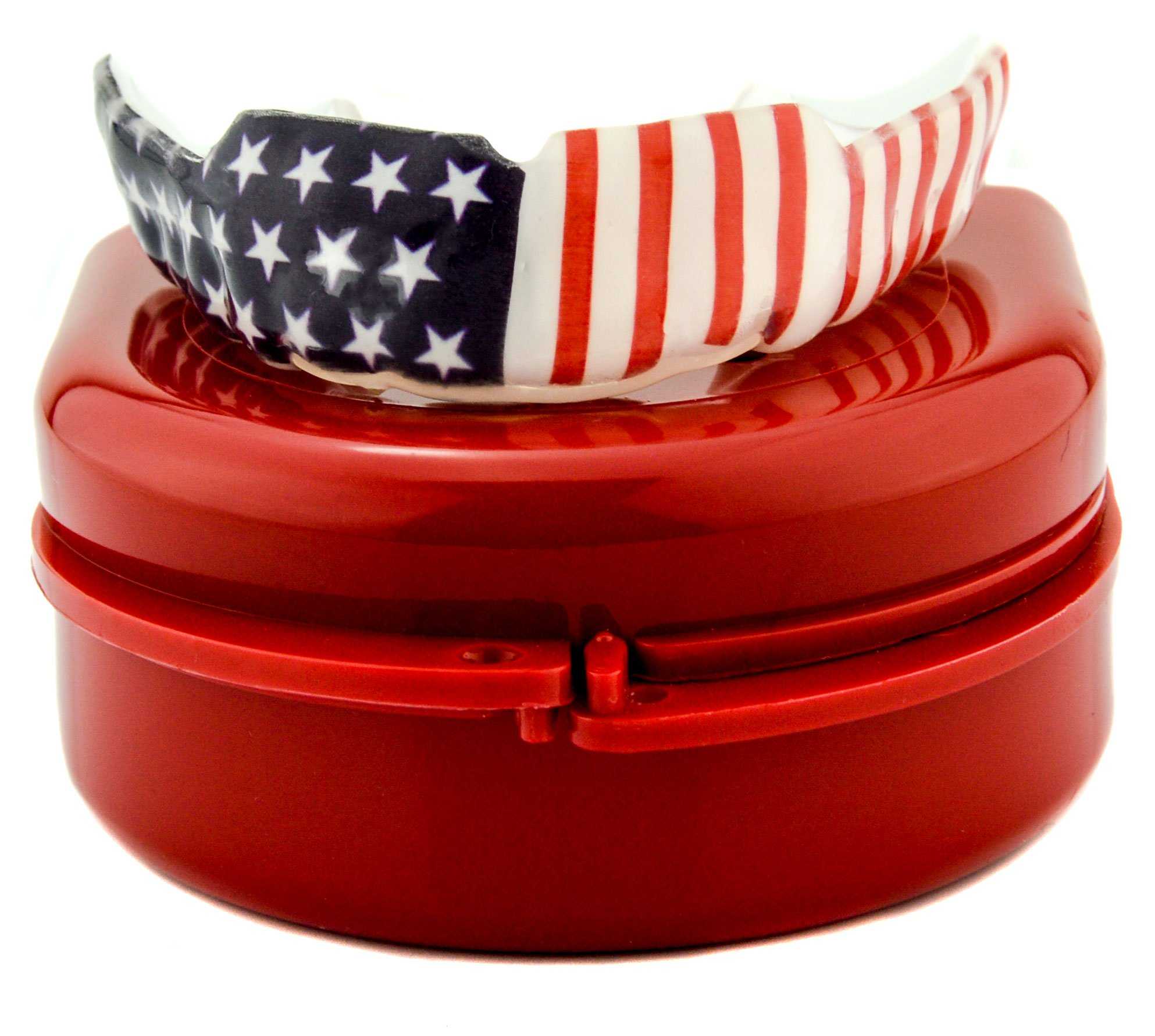 Impact Custom Professional 4mm Thin Profile Roller Derby Mouthguard American Flag by Impact Custom Mouthguards