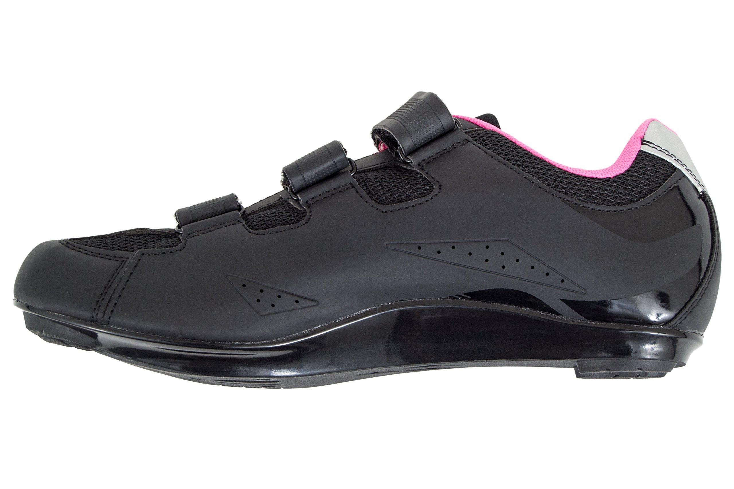 Tommaso Pista Women's Spin Class Ready Cycling Shoe - Black/Pink - Look Delta - 38 by Tommaso (Image #9)
