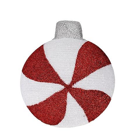 penn peppermint twist lighted red glitter sisal christmas window decorations set of 3 - Christmas Window Decorations Amazon