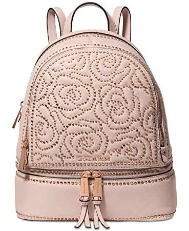 d446aecec505 Amazon.com | MICHAEL Michael Kors Rhea Zip Medium Backpack (Soft Pink Stud)  | Casual Daypacks