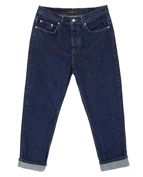 d6cfcba69a Zara Men's Basic Relaxed fit Denim Essentials Jeans 6688/350: Amazon ...