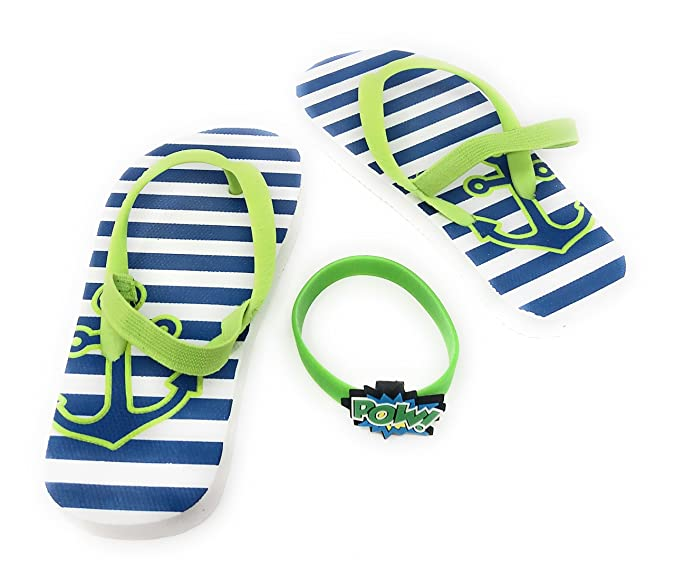 , Black//Red Fire Rescue Beach Sandals Thong Toe Printed Summer Shoes for Kids Small Toddler Boys Flip Flops with Back Strap this comes with a Superhero Comics Brightly Colored Rubber Bracelet to add Fun Power into the water 5-6