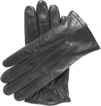 Pratt and Hart Mens Mens Sherpa Lined Lambskin Winter Leather Gloves
