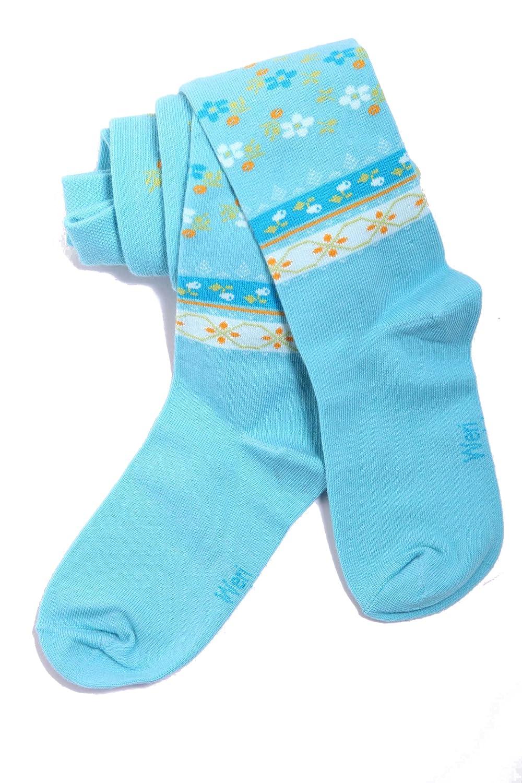 Weri Spezials Baby and Children Tights, Turquoise, Ethno