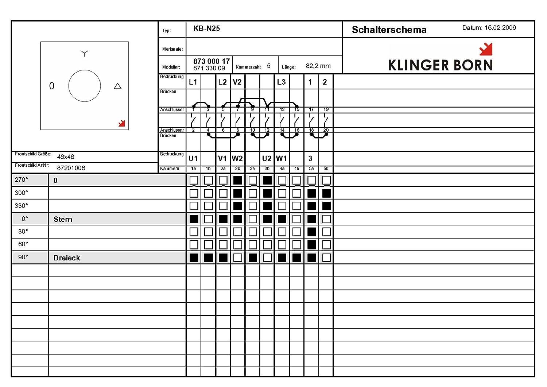 Stern-Dreieck-Schalter KB-N25 25A: Amazon.de: Beleuchtung