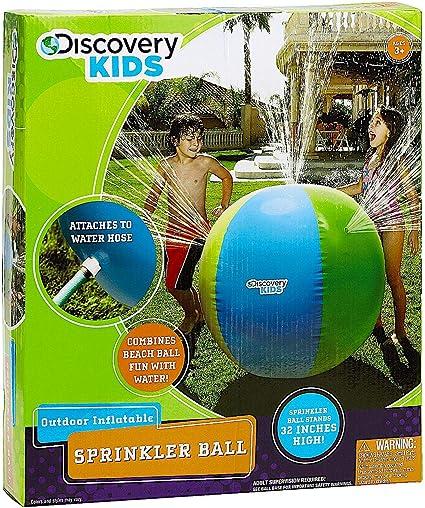 Amazon.com: Pelota inflable rociadora marca Discovery Kids ...