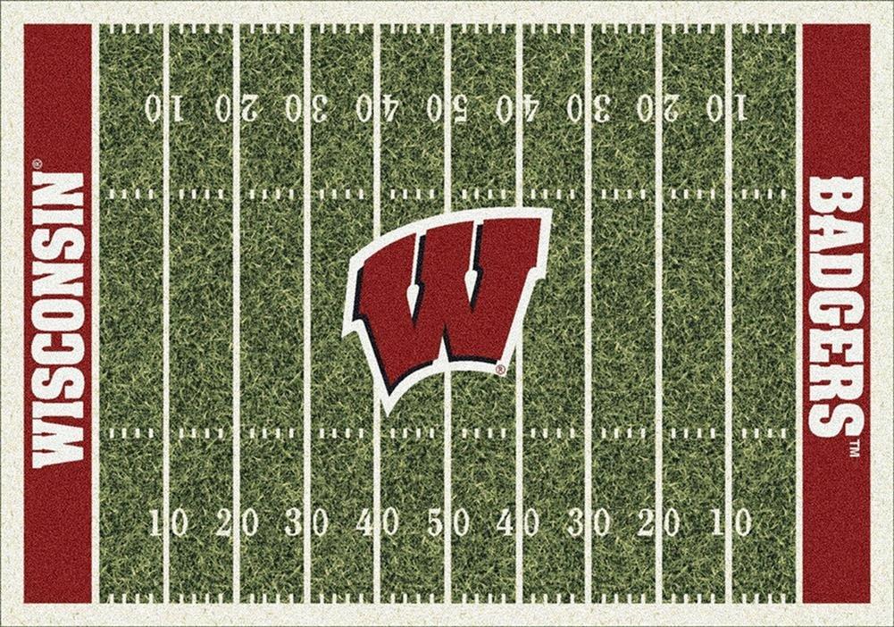 Milliken 4000018598 Wisconsin College Home Field Area Rug, 5'4'' x 7'8''