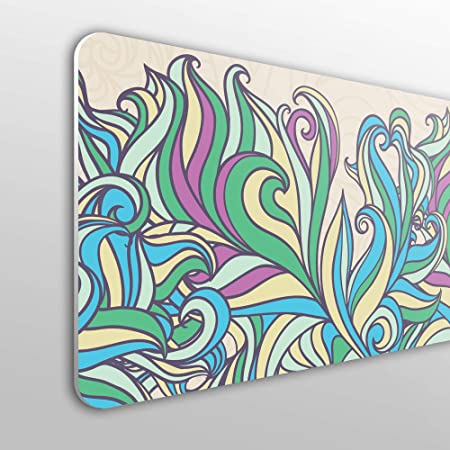 Testiera per Letto in PVC 10 mm Decorativa con Elementi ondulati MEGADECOR Economica Colori Astratti