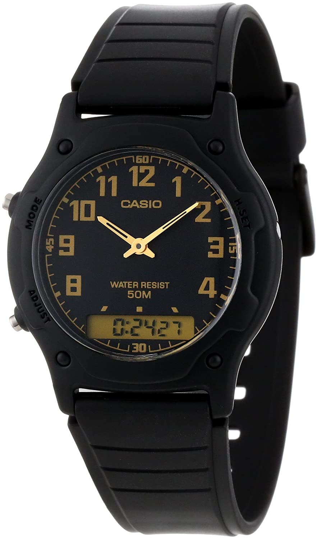 c6a96cfe6 Amazon.com: Casio Men's AW49H-1BV Ana-Digi Dual Time Watch: Casio: Watches