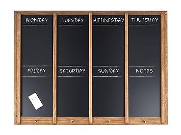 Kühlschrank Wochenplaner : Kreidetafel wochenplaner xl holz inkl. kreide und vier haken
