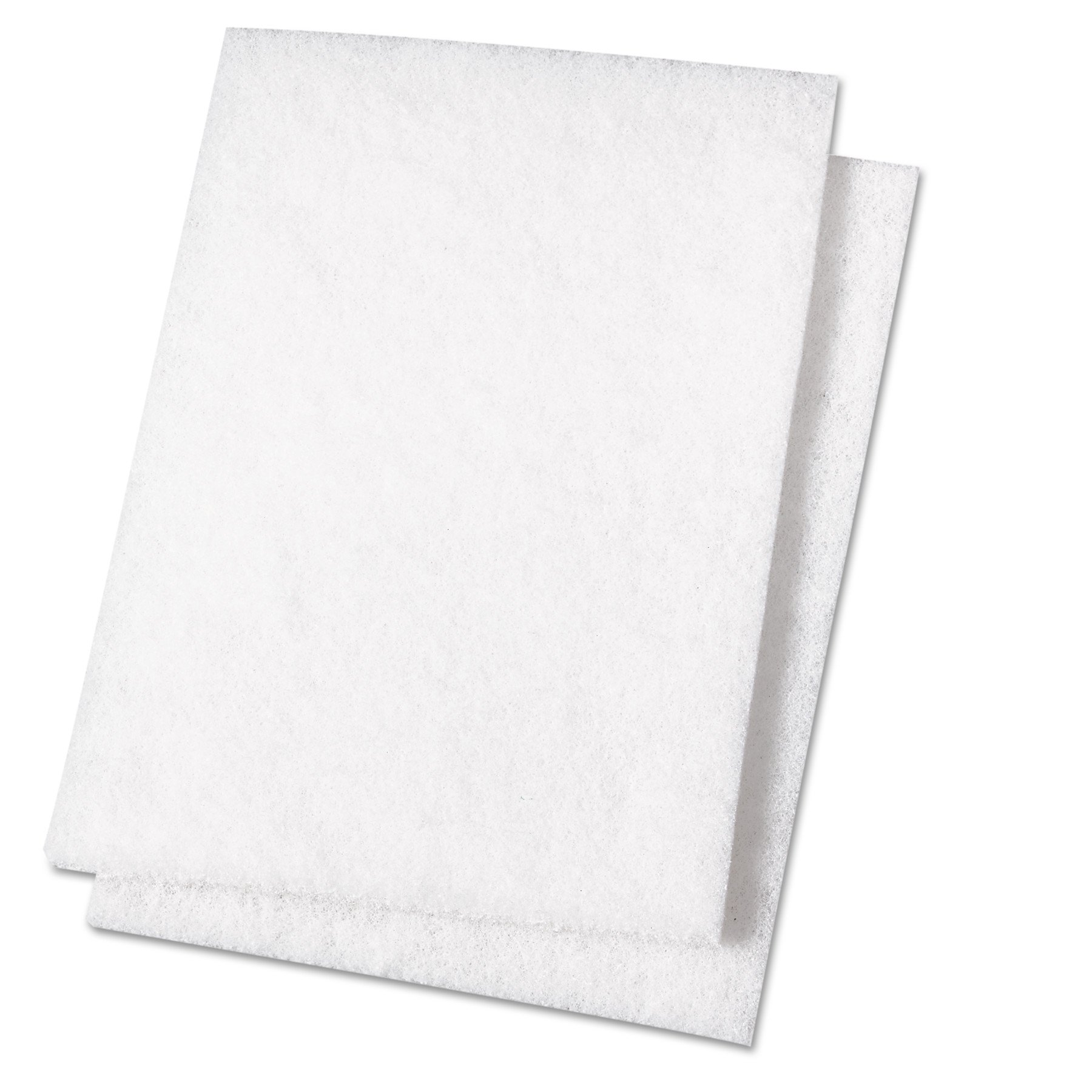 Premiere Pads PAD 198 Light Duty Scouring Pad, 9'' Length by 6'' Width, White (Case of 20) by Premiere Pads