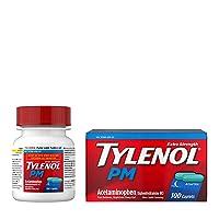 Tylenol PM Extra Strength Pain Reliever & Sleep Aid Caplets, 500 mg Acetaminophen...