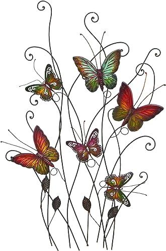 Deco 79 Metal Wall Decor, 32 by 20 , Butterflies – 1