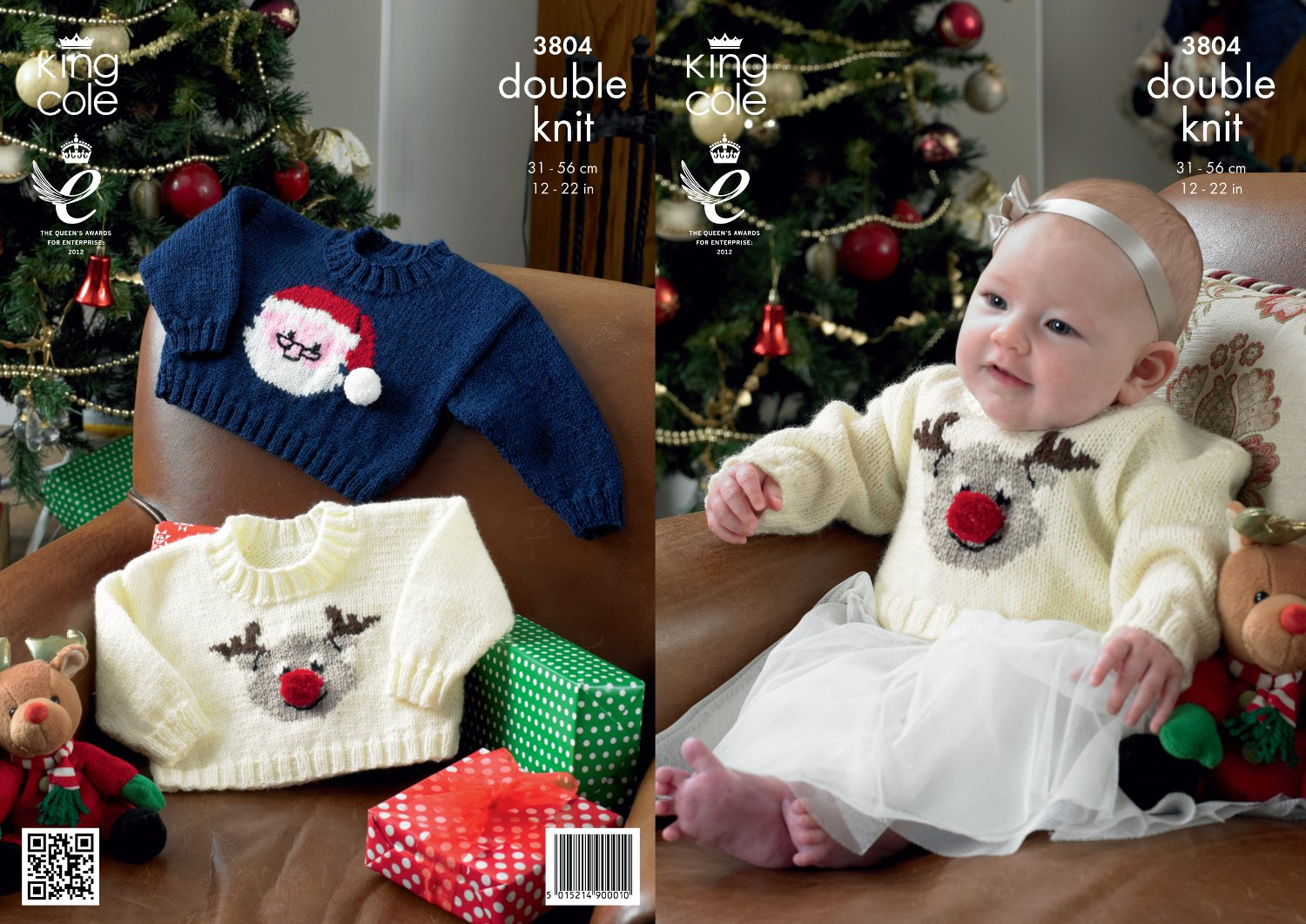 King Cole Baby Christmas Sweaters Comfort DK Knitting Pattern 3804 ...