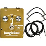 Janglebox The Byrds 50th Anniversary Gold Jangle Box Pedal w/ 4 Cables