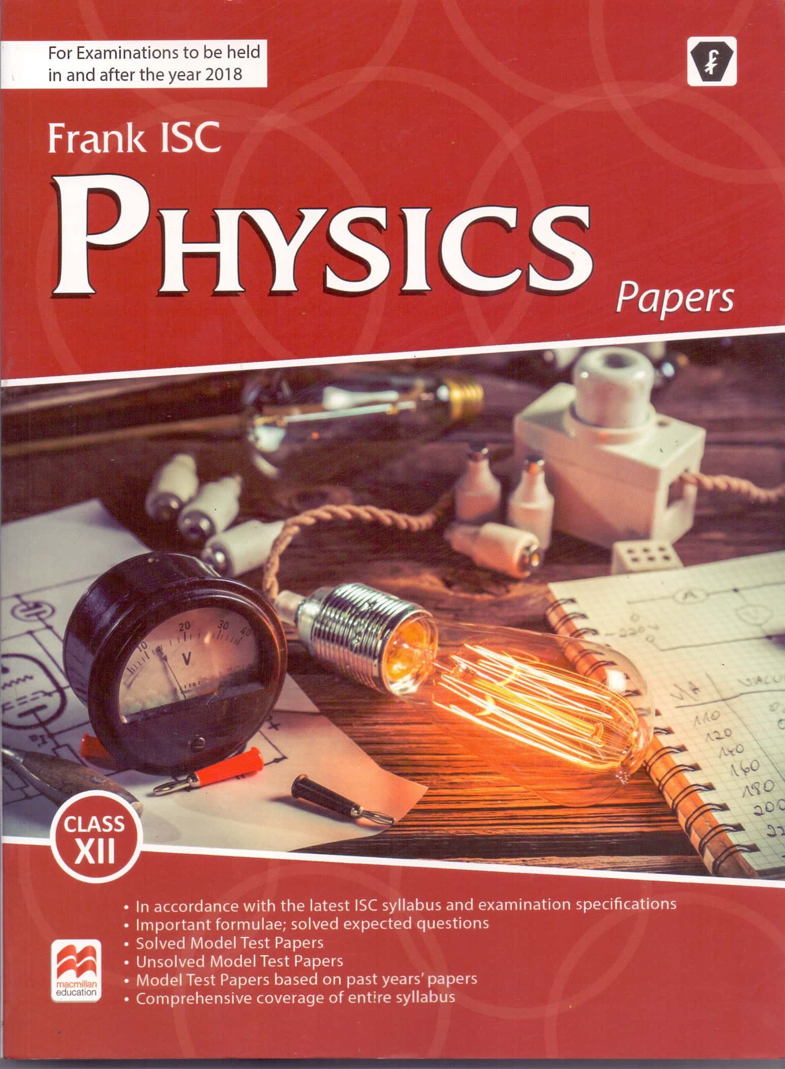 Buy Frank Isc Physics Papers Class 12 For Examinations To