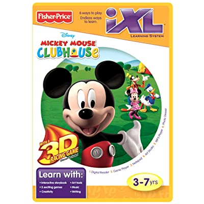 Fisher-Price iXL Learning System Software Mickey's Clubhouse 3D: Toys & Games