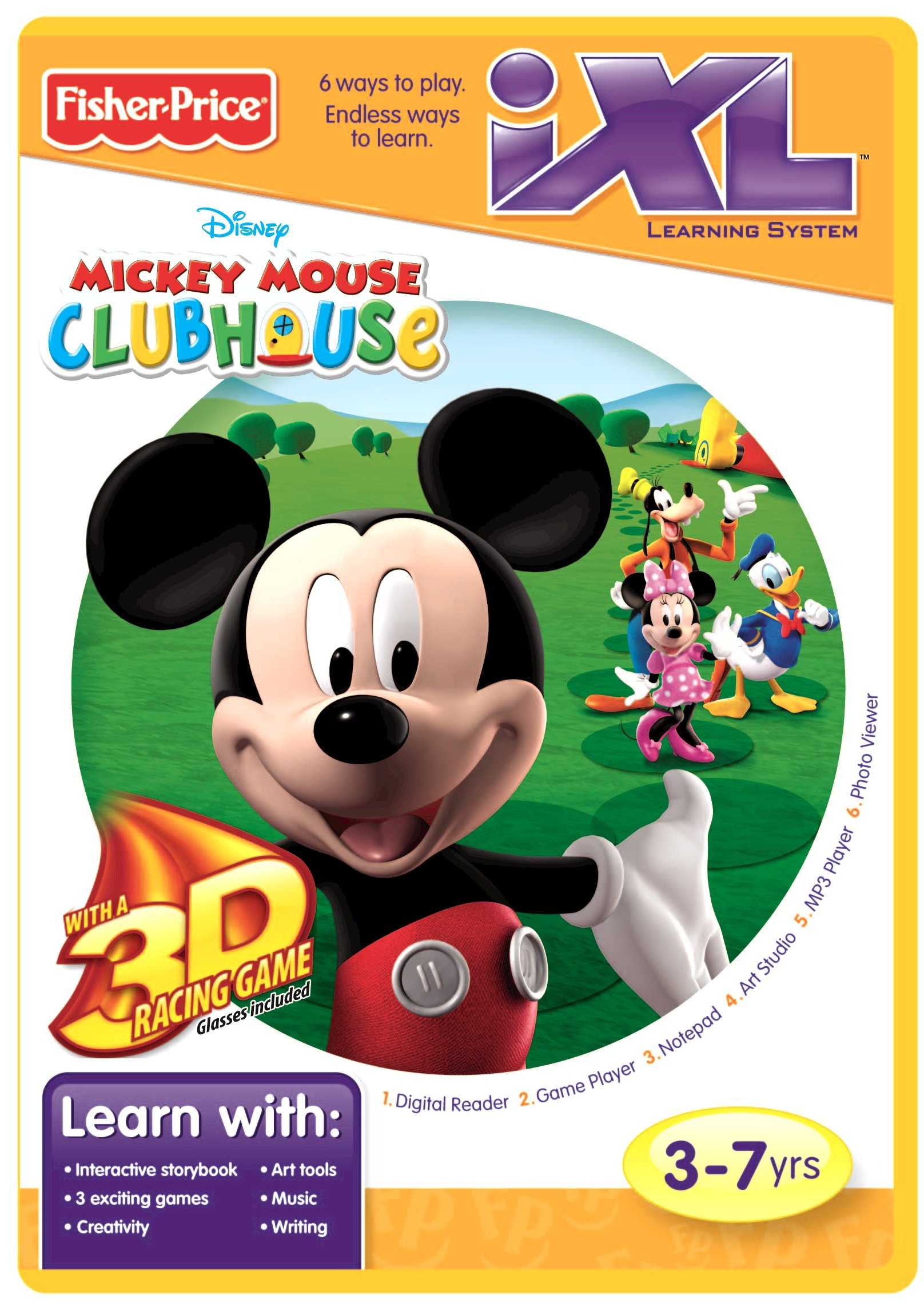 Fisher-Price iXL Learning System Software Mickey's Clubhouse 3D