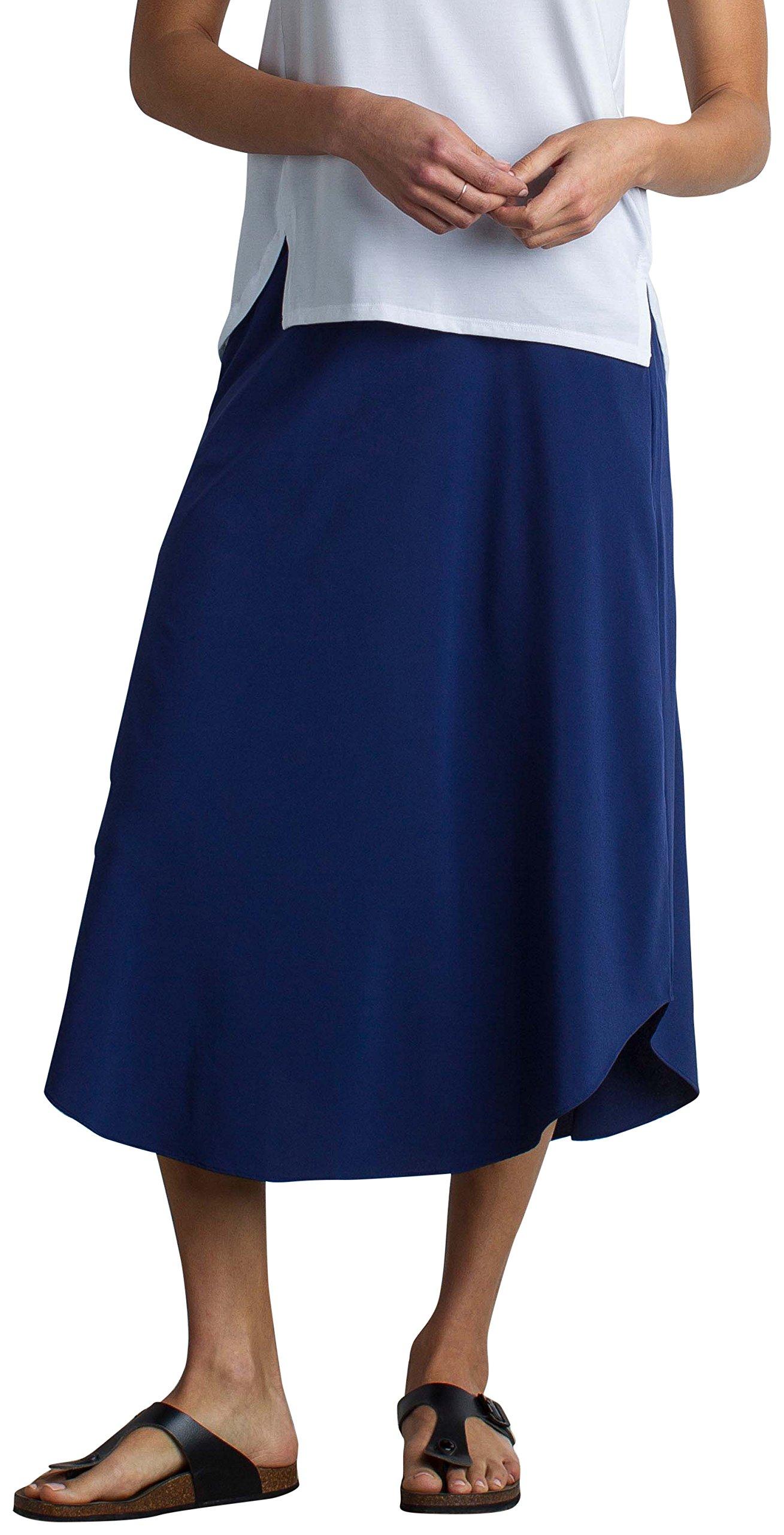 ExOfficio Women's Kizmet Midi Skirt, Ink, Small