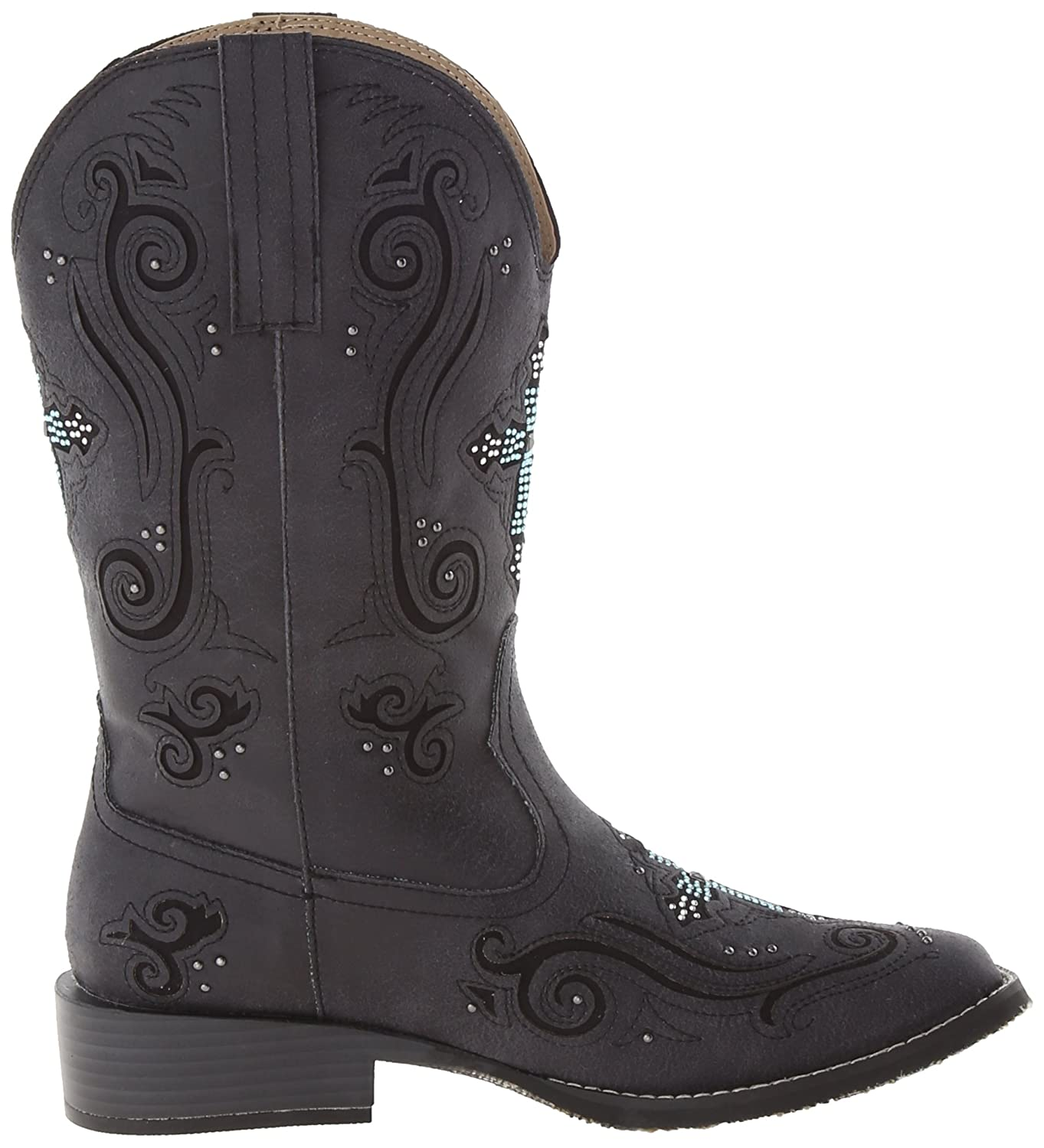 Roper Boot Women's Crossed Out Western Boot Roper B00JE8XJ0W 5 B(M) US|Black 1485f4