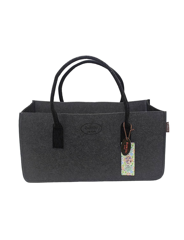 Bolsa de fieltro chimenea madera roja chimenea madera bolso bolsa de compras periódico bolso bolso