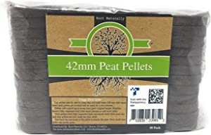 Root Naturally 42mm Peat Pellets - 50 Count