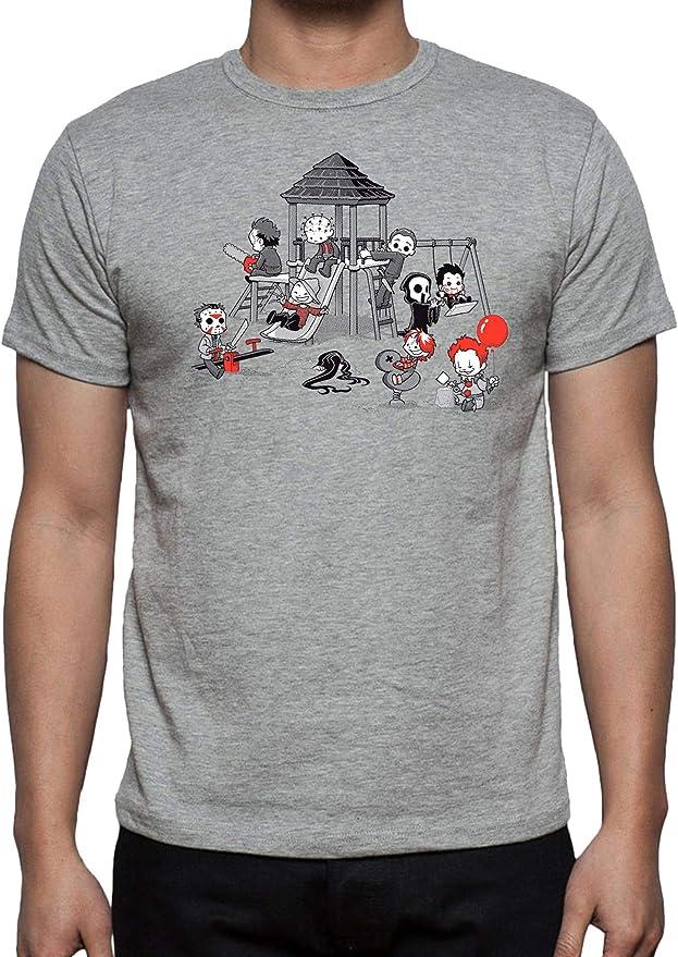 The Fan Tee Camiseta de Hombre Halloween Terror Terror Viernes 13 It Scream Fredy: Amazon.es: Ropa y accesorios