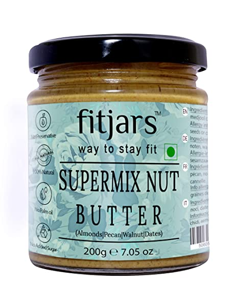 FITJARS Super Mix Nut Butter (almendras, nueces, nueces, dátiles medjool) -
