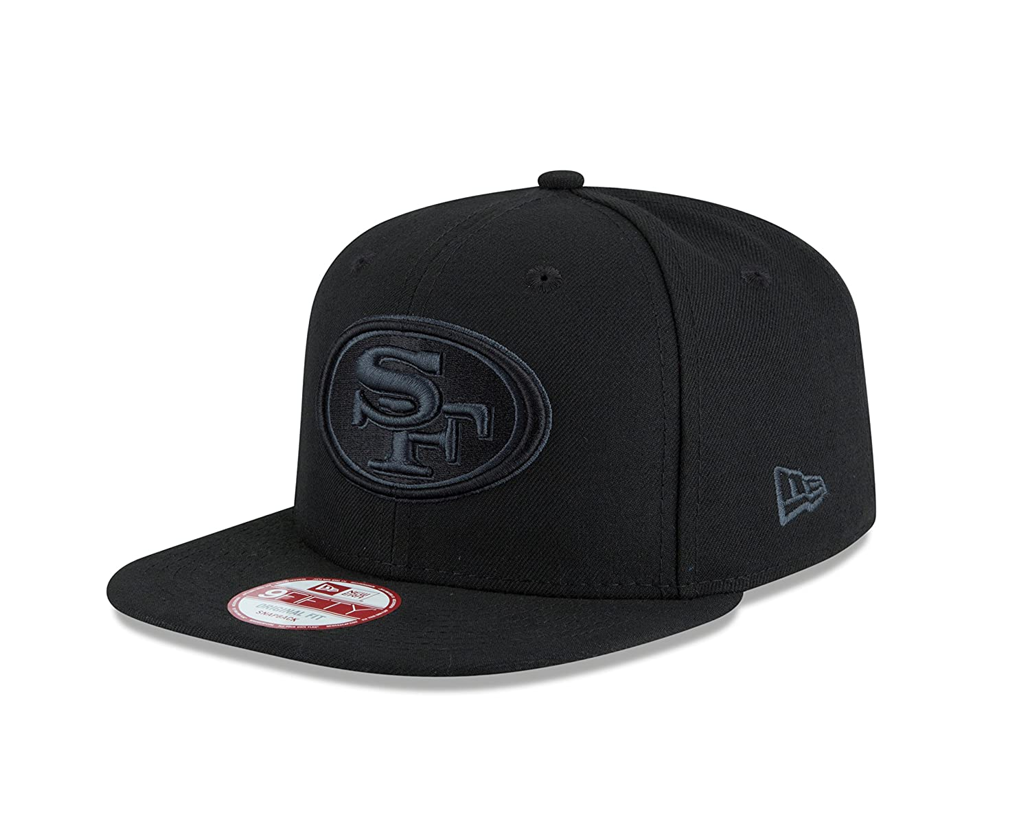 newest bdea3 86ab7 Amazon.com   NFL San Francisco 49Ers New Era Black Graphite 9FIFTY Original  Fit Cap, Black, One Size   Sports   Outdoors