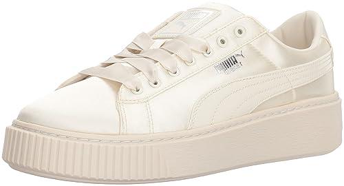 new product 807fe cf07f PUMA Girls' Basket Platform Tween Sneaker, Whisper White ...