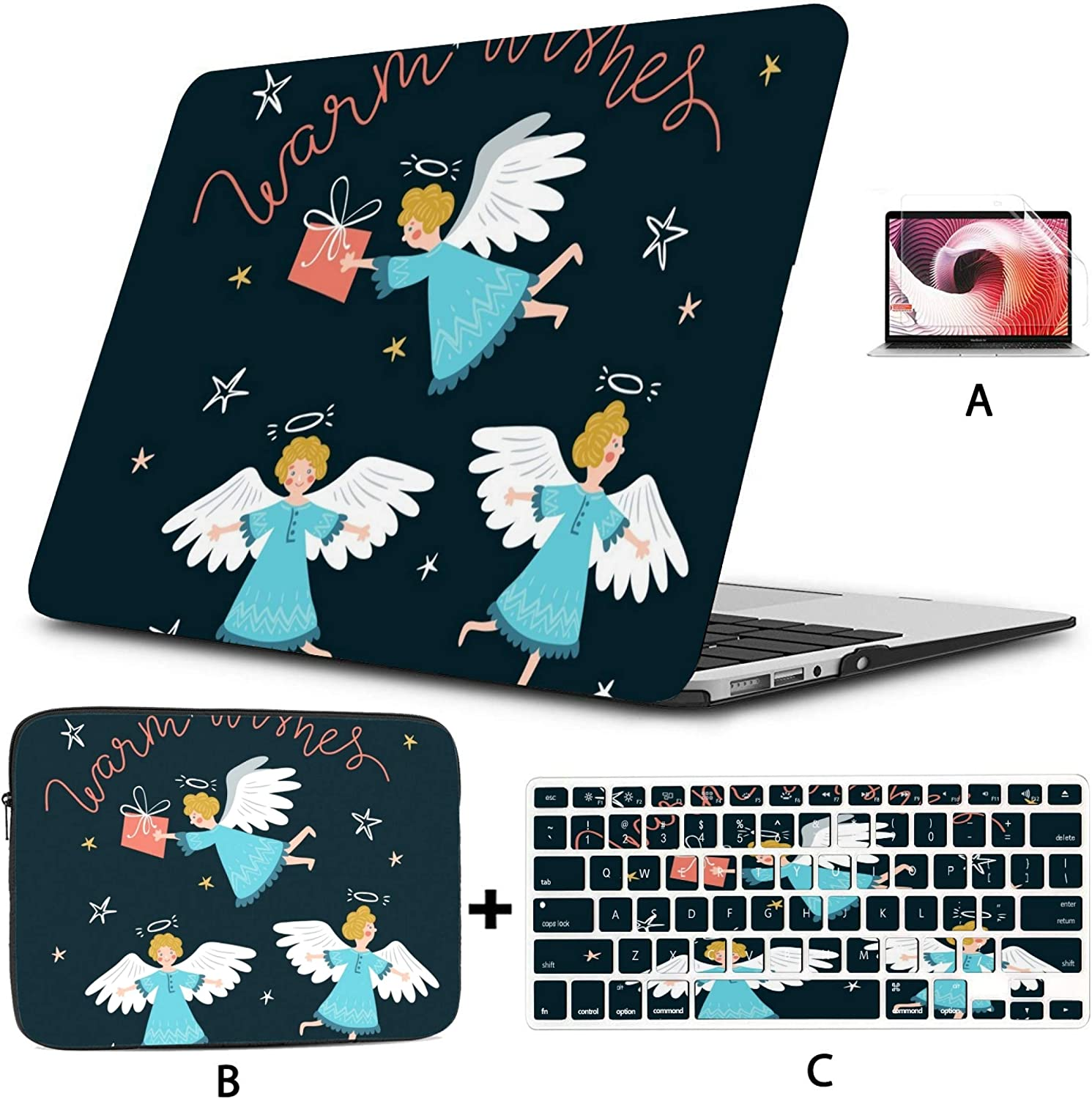 MacBook Air 13 Inch Case 2020 2019 2018 Blooming Tree Birds Plastic Hard Shell,Sleeve Bag,Keyboard Cover,Screen Protector Compatible with MacBook Pro 13 Inch USB-c