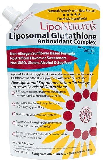 Lipo Naturals Liposomal Glutathione Antioxidant Complex 15oz | 100% China-Free | No Artificial
