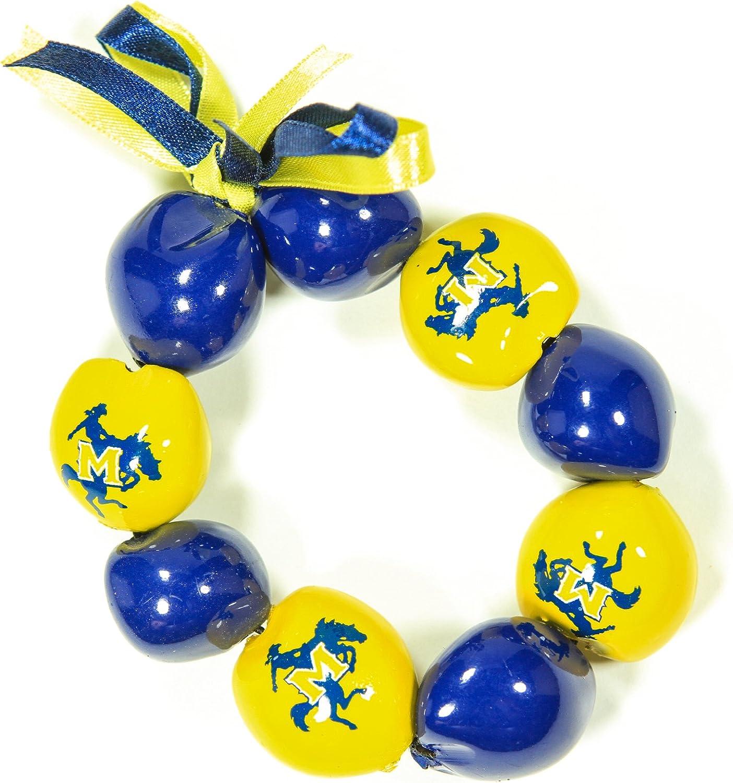 NCAA McNeese State Cowboys Go Nuts Kukui Nut Bracelet