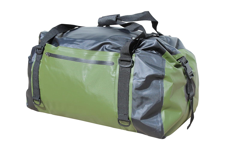 COR Waterproof 60L Duffel Bag 100% Waterproof Dry Bag Duffel Bag - Lightweight, Durable, Comfortable, Versatile Perfect for Kayaking, Rafting, Travel, Surfing, Skiing (Black and Green) [並行輸入品] B07R4V9Z8Q