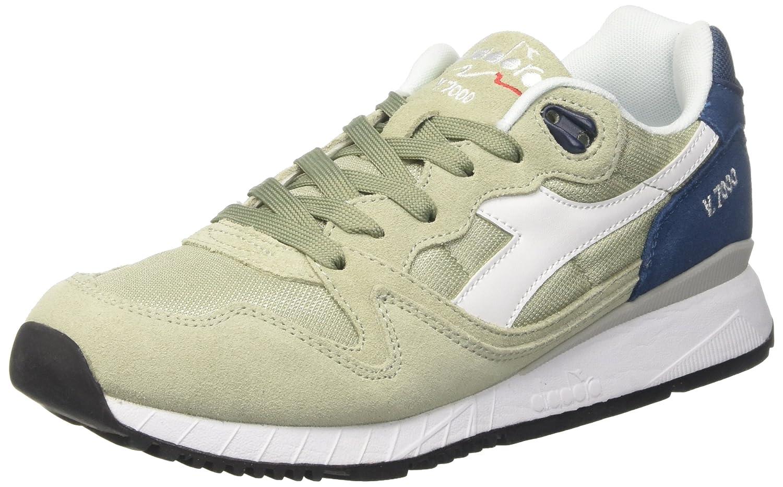 Diadora Herren V7000 NYL Ii Sneaker Gelb Verde Te Blu Denim Scuro