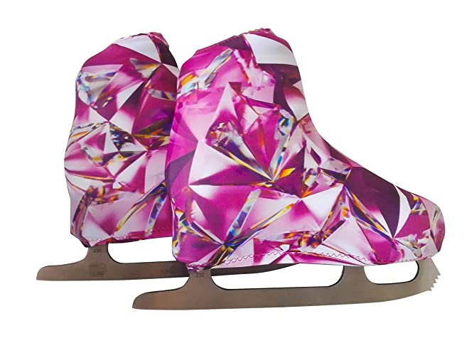 Funda Cubre patines para patinaje artistico sobre ruedas o sobre hielo, impresión DIAMOND