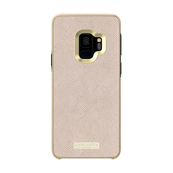 online store 29089 58178 kate spade new york Wrap Case for Samsung Galaxy S9 - Rose Gold Saffiano  Rose Gold / Gold Logo Plate